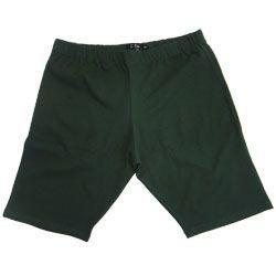 Bermuda Plus Size de Coton com elástico na Cintura Verde 00110