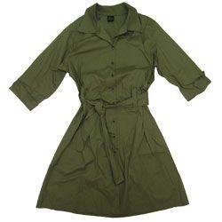 Vestido Plus Size de Tricoline, Aberto e com Manga 3/4 Verde 00654