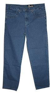 Calça Jeans Masculina  Plus Size com Elastano Ref 03634 Cor - Lavagem Jeans Clara (Delavê)