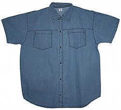 Camisa Jeans Plus Size Masculina Ref. 01108