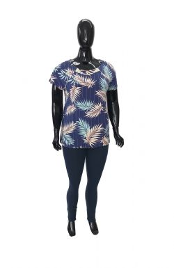 Blusa Plus Size Ref 02909 / Legging Plus Size Ref 01183